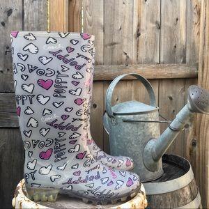 COACH Pixy Rain Boot Wellingtons 6B GUC